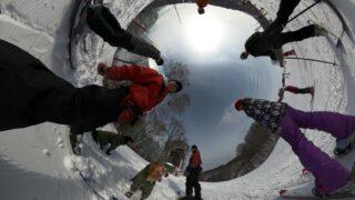 202001野沢温泉とヤマボクでスキー&雪遊び その3 Snowdogs in 野沢温泉スキー場